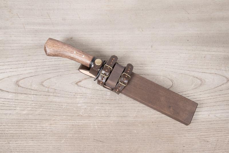 剣鉈の木鞘
